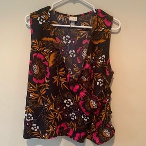 NWT summer floral wrap top